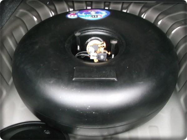 ถังแก๊สโดนัทขนาด 51 ลิตร ติดแก๊ส นิสสัน อัลเมร่า/Nissan Almera รถใหม่ ป้ายแดง