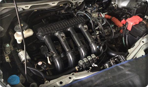 Honda jazz install gas lpg.8