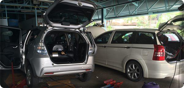 Toyota wish install gas lpg.10