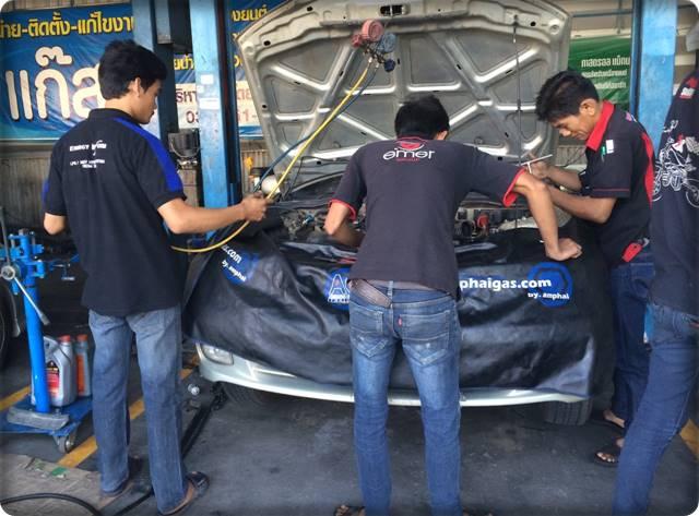 suphan install gas lpg 2