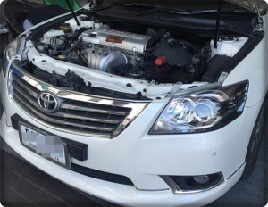 Toyota camry install gas lpg 2